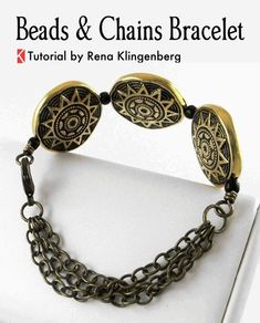 Beads and Chains Bracelet - Tutorial by Rena Klingenberg