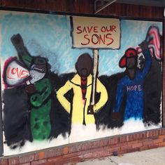 """""""A Scramble to Save Protest Art, from Ferguson to Hong Kong,"""" by Laura C. Mallonee, Hyperallergic, 12/12/2014 [A mural in Ferguson - Image via paintforpeacestl/Instagram]"""