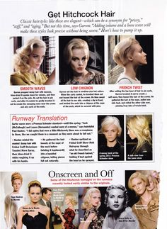 Hitchcock Blonde in the Pages of Allure | GlamAmor