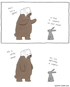 this bear is not very good at halloween - http://lizclimo.tumblr.com