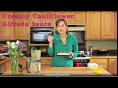 Healthy Roasted Garlic Cauliflower Alfredo Sauce Recipe - YouTube