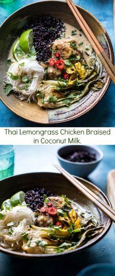 Thai Lemongrass Chicken Braised in Coconut Milk | halfbakedharvest.com @hbharvest