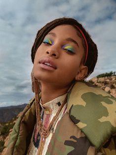Willow Smith for Girlgaze. Images by Daria Kobayashi Ritch. Willow Smith, Black Girl Magic, Black Girls, Pretty People, Beautiful People, Doja Cat, Black Models, Makeup Inspo, Face Art