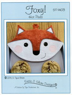 Fox Hot Pads Potholder Pattern by Susie C. Shore by DragonflyRealm, $6.00