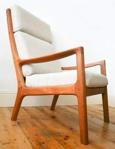 Ole Wanscher high Armchair. Denmark. Denmark, Armchair, Furniture, Home Decor, Sofa Chair, Single Sofa, Decoration Home, Room Decor, Home Furniture