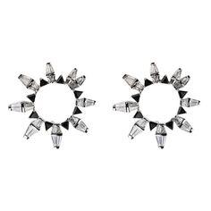 Boucles d'oreilles Spectrum de Nikos Koulis en or blanc, diamants et onyx
