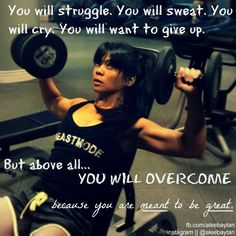 Inspiration for fitness and beyond :)