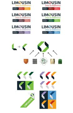 Le Limousin, région française du Massif Central composée de trois départements à savoir la Corrèze, la Creuse et la Haute-Vienne, dévoile le logo de sa nouvelle marque territoriale. Brand Identity Design, Graphic Design Branding, Logo Design, Typo Logo, 1 Logo, Limousin, City Branding, Logo Branding, Web Design