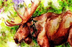 Christmas Moose Sketch by ~L-H4x3D on deviantART
