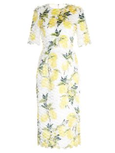 Lemon-print fil coupé dress | Dolce & Gabbana | MATCHESFASHION.COM UK