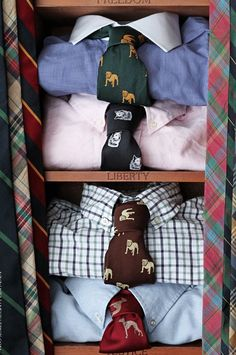Selective silk dog ties & shirts.  http://www.annabelchaffer.com/products/Country-Pheasant-Silk-Tie-.html