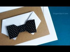 How to make a Paper Bowtie for Father's Day - YouTube