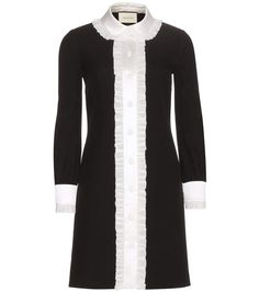 mytheresa.com - Silk and wool dress - Luxury Fashion for Women / Designer clothing, shoes, bags