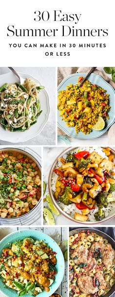 These 30 summer meals will be on the table in 30 minutes or less. Done. Any other problems you'd like us to solve?