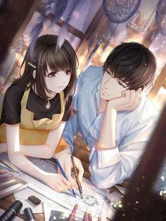 Couple Anime Manga, Anime Cupples, Anime Kiss, Love Cartoon Couple, Cute Love Cartoons, Anime Love Couple, Cute Couple Drawings, Anime Couples Drawings, Cartoon Drawings