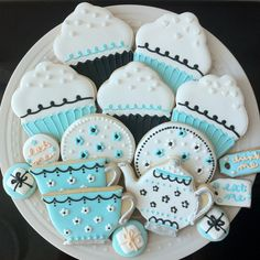 Tea Party Decorated Cookies- For your Alice in Wonderland Birthday. $42.00, via Etsy.