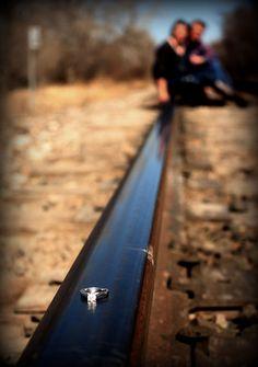 Train Track Engagement Photo