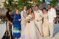 Family Formals After Ceremony At Palm Beach Aruba Destination Wedding Occidental Grand Resort