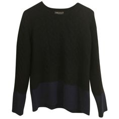 Pre-owned Vince Sweater ($159) ❤ liked on Polyvore featuring tops, sweaters, none, chunky sweater, block tops, vince sweaters, colorblock top and color-block sweater