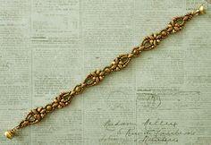 Linda's Crafty Inspirations: Bracelet of the Day: Elinor Bracelet - Yellow Picasso