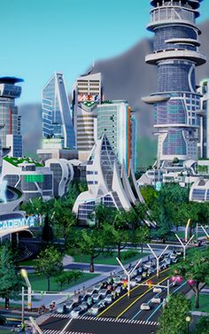 Inside SimCity's Vision Of Tomorrow, Where You Can Build A Clean Tech Heaven Or A Drone-Filled Hell | A new expansion pack for the city simulation game surrounds players with futuristic technologies. But even in the future, one thing never changes: human nature.
