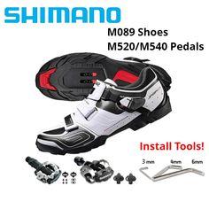 242a1e0ca Shimano SH-M089 Cycling Shoes SPD SPD-SL MTB Mountain Bike Shose BLACK