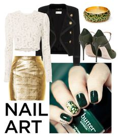 """""""Green with Envy"""" by kiwipenguin on Polyvore featuring beauty, Yves Saint Laurent, A.L.C. and Jennifer Chamandi"""