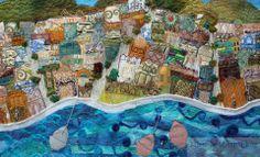 landscape, embroidery by Michelle Mischkulnig (Chelle Textiles)