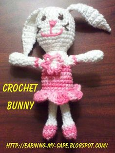 Earning-My-Cape: Ballerina Bunny (free crochet pattern)