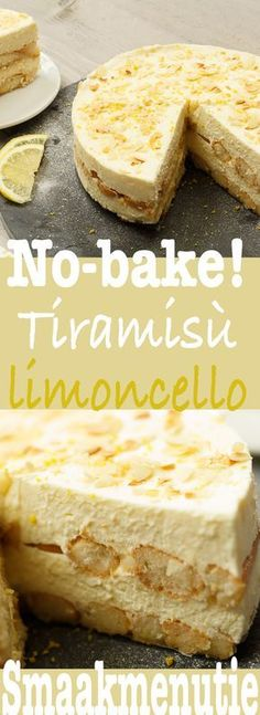 Tiramisu limoncello – Desserts and pies recipe Taste Menu … – Sweet Varieties Lemon Recipes, Sweet Recipes, Baking Recipes, Cake Recipes, Dessert Recipes, Dutch Recipes, Delicious Desserts, Yummy Food, Food Cakes