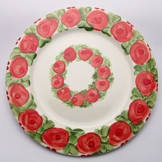 Platzteller Paale Plates, Tableware, Kitchen, Design, Red, Green, Dishes, Licence Plates, Dinnerware