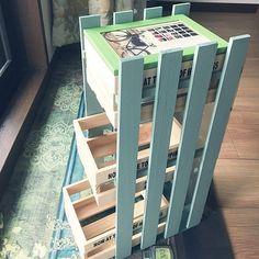 ミルクペイント,セリア,100均,DIY,引き出し付き棚,My Shelf yuzuの部屋