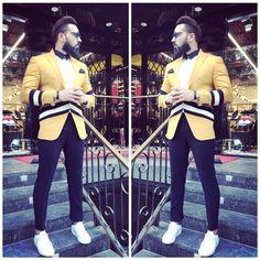Designer yellow partywear latest design three piece mens suit To inquire whatsapp 918888328116 or ethnicdiagmailcom Mens Sherwani, Indian Groom Wear, Stylish Suit, Floral Print Shirt, Three Piece Suit, Mens Suits, Mens Fashion, Yellow, My Style
