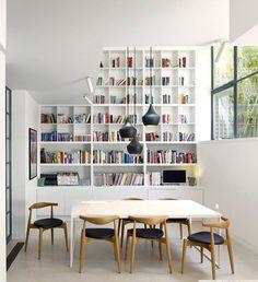 librerías hechas a medida para el comedor