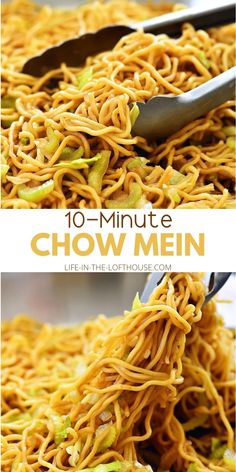 Chow Mein (copycat) Chow Mein Noodle Recipe, Easy Chow Mein Recipe, Chow Mein Recipe Vegetable, Chicken Lo Mein Recipe Easy, Easy Delicious Recipes, Easy Dinner Recipes, Easy Meals, Yummy Food, Yummy Easy Dinners
