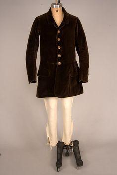 Gent's Velvet Hunting Jacket, England, c. 1850