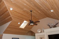Wonderful juniper ceiling on the entire top level of this remodel is Southern Shores, NC Custom Homes, Ceiling Fan, Southern, Home Decor, Ceiling Fans, Interior Design, Home Interior Design, Home Decoration, Decoration Home