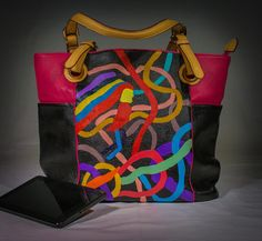 Colors In Motion by UniqueBeautyBags on Etsy