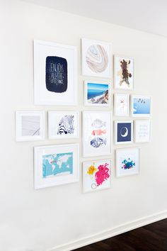 Blogger Design DIY - Camille Styles Gallery Wall How To - http://camillestyles.com/living/how-to-design-a-kids-gallery-wall-an-art-giveaway/