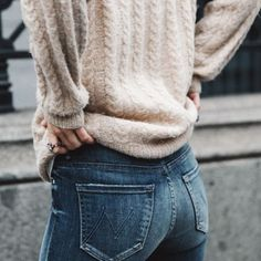 A simple sweater + a great pair of jeans. Winning combo.