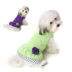 Dog ruffle dress- so cute!