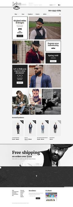 Hipster Men Fashion Online Store #OpenCart #webtemplate #themes #business #responsive #template