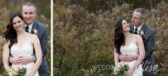 Rainy fall wedding day photos
