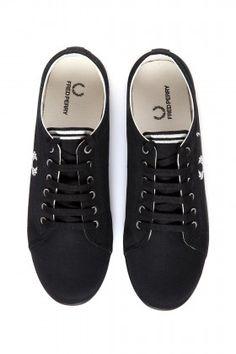Fred Perry Kingston Twill-B3176 Siyah Ayakkabı: Lidyana.com