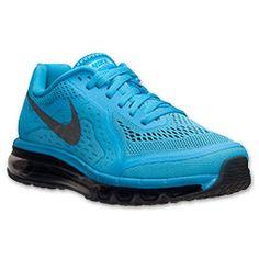 Men's Nike Air Max 2014 Running Shoes | FinishLine.com | Vivid Blue/Black