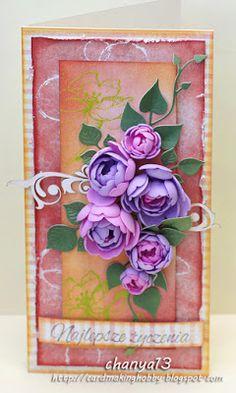 Card making blog: Cała w  kwiatach.