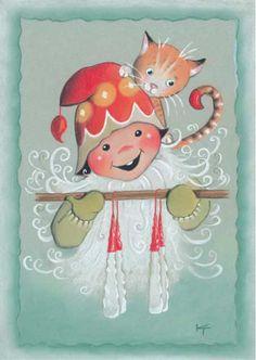 Christmas Drawing, Kids Christmas, Vintage Christmas, Christmas Crafts, Scandinavian Kids, Scandinavian Christmas, Creation Photo, Funny Drawings, Country Paintings