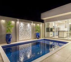 Backyard Pool Landscaping, Backyard Pool Designs, Small Backyard Pools, Small Pools, Cool Swimming Pools, Swimming Pool Designs, Dream Home Design, Modern House Design, Piscina Interior