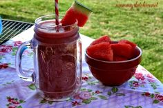 Mommy's Kitchen - Old Fashioned & Country Style Cooking: Watermelon - Strawberry Smoothie {Locally Grown Watermelons}