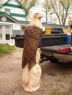 Chain Saw Carving Eagle | CHAINS